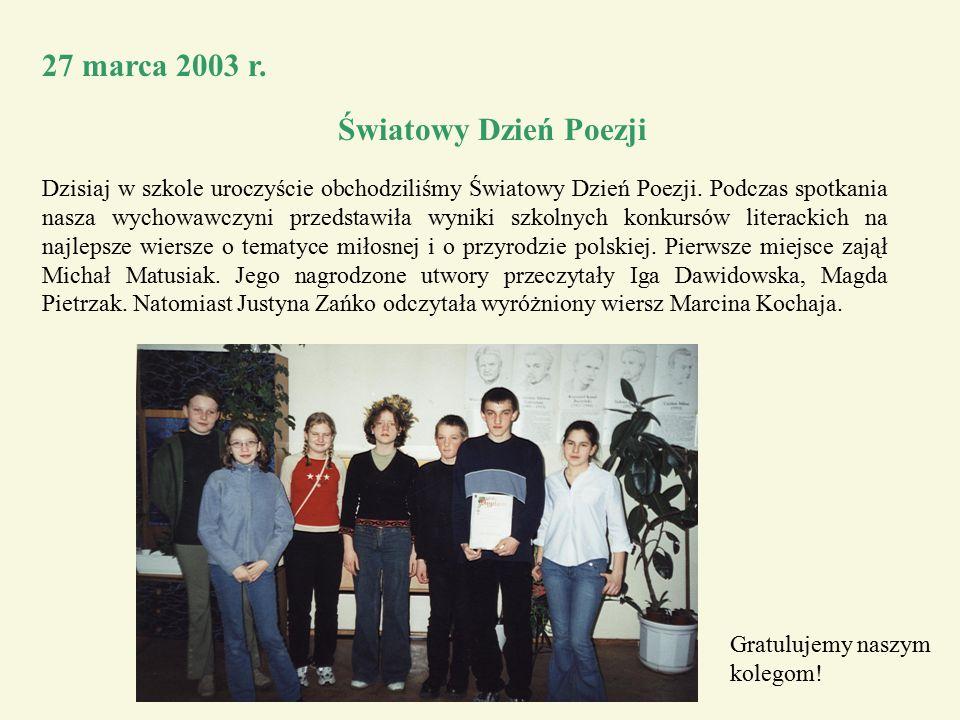 27 marca 2003 r.