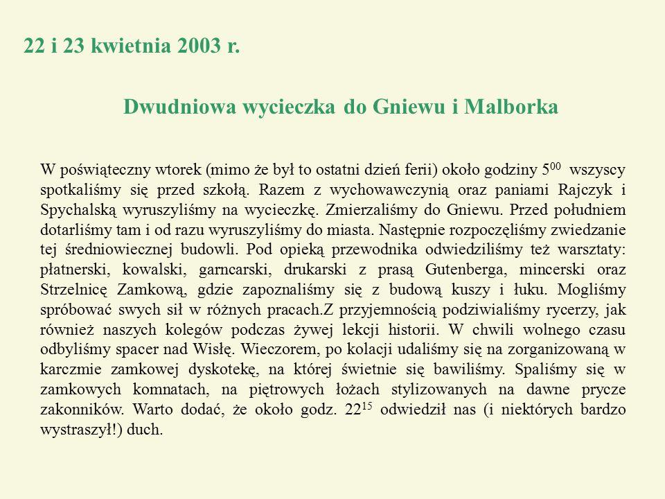 22 i 23 kwietnia 2003 r.