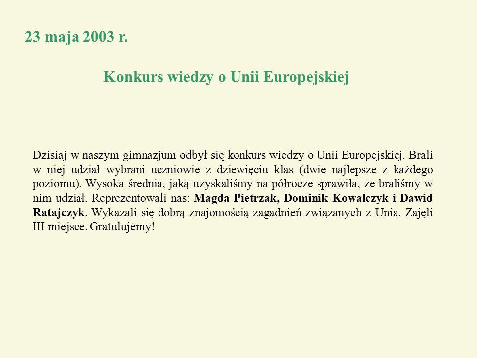 23 maja 2003 r.