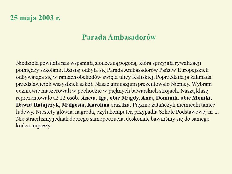 25 maja 2003 r.