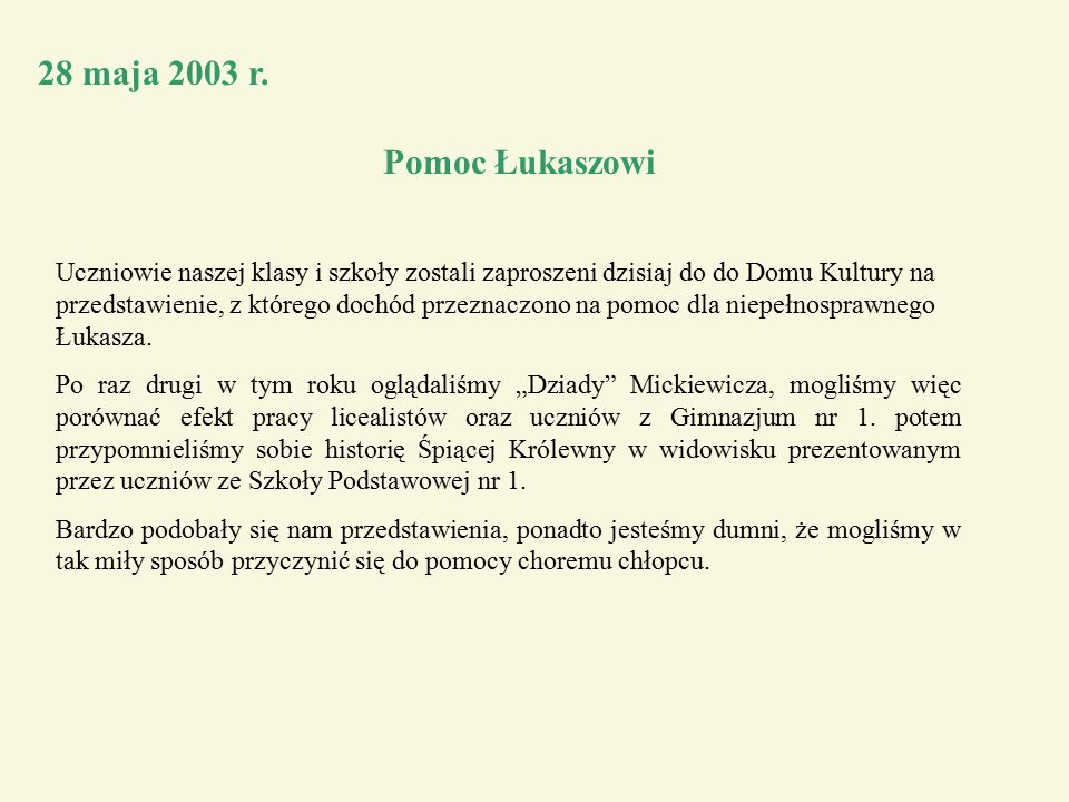 28 maja 2003 r.