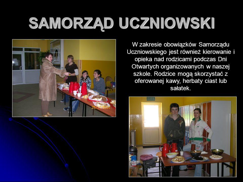 67 SAMORZĄD UCZNIOWSKI W zakresie obowiązków Samorządu Uczniowskiego jest również kierowanie i opieka nad rodzicami podczas Dni Otwartych organizowany