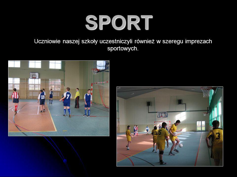74 SPORT Uczniowie naszej szkoły uczestniczyli również w szeregu imprezach sportowych.