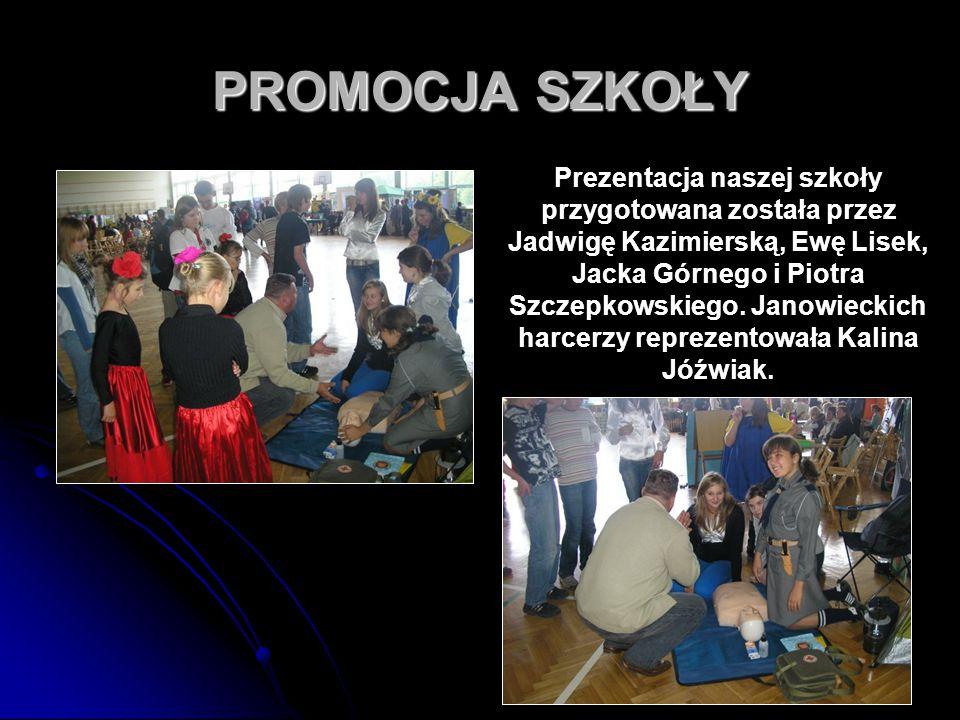 76 PROMOCJA SZKOŁY Prezentacja naszej szkoły przygotowana została przez Jadwigę Kazimierską, Ewę Lisek, Jacka Górnego i Piotra Szczepkowskiego. Janowi