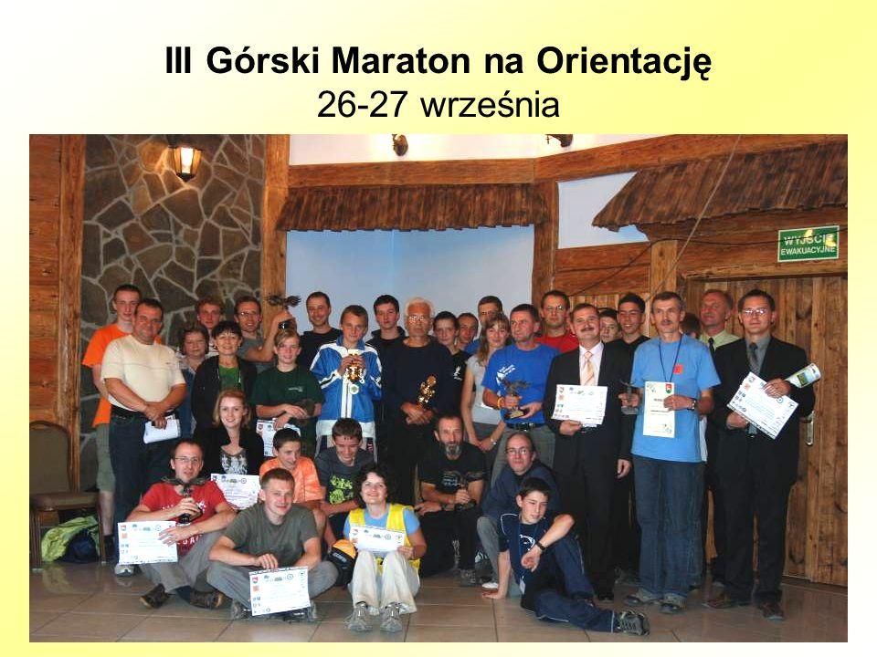 III Górski Maraton na Orientację 26-27 września