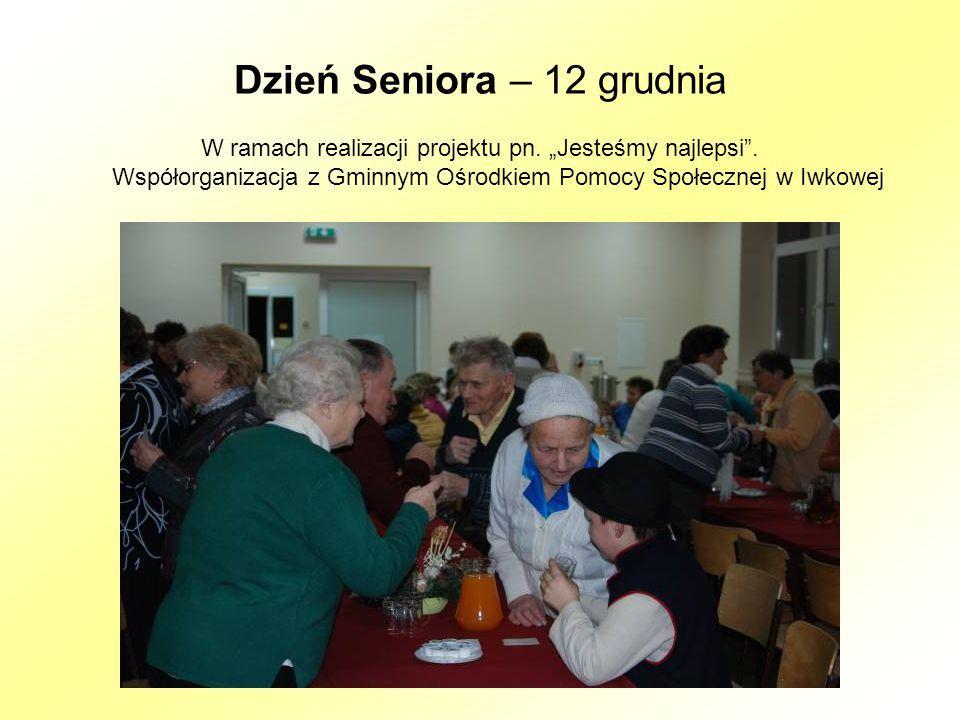 Dzień Seniora – 12 grudnia W ramach realizacji projektu pn.