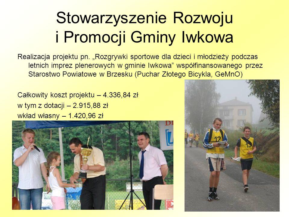 Stowarzyszenie Rozwoju i Promocji Gminy Iwkowa Realizacja projektu pn.