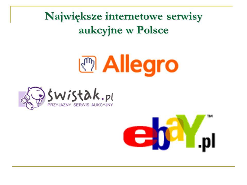 Największe internetowe serwisy aukcyjne w Polsce