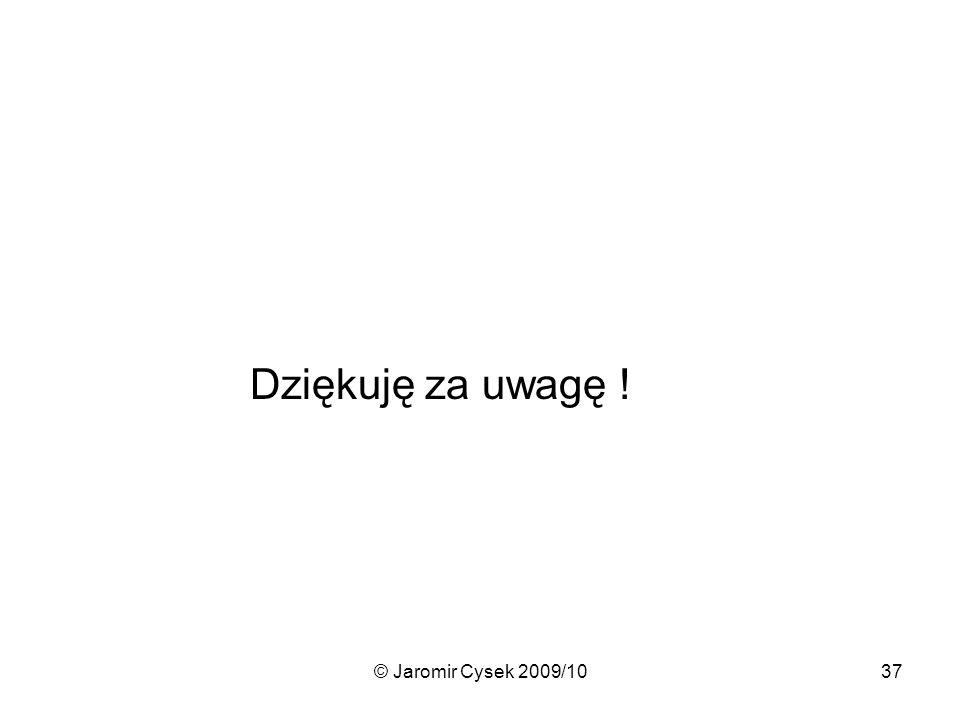 © Jaromir Cysek 2009/1037 Dziękuję za uwagę !