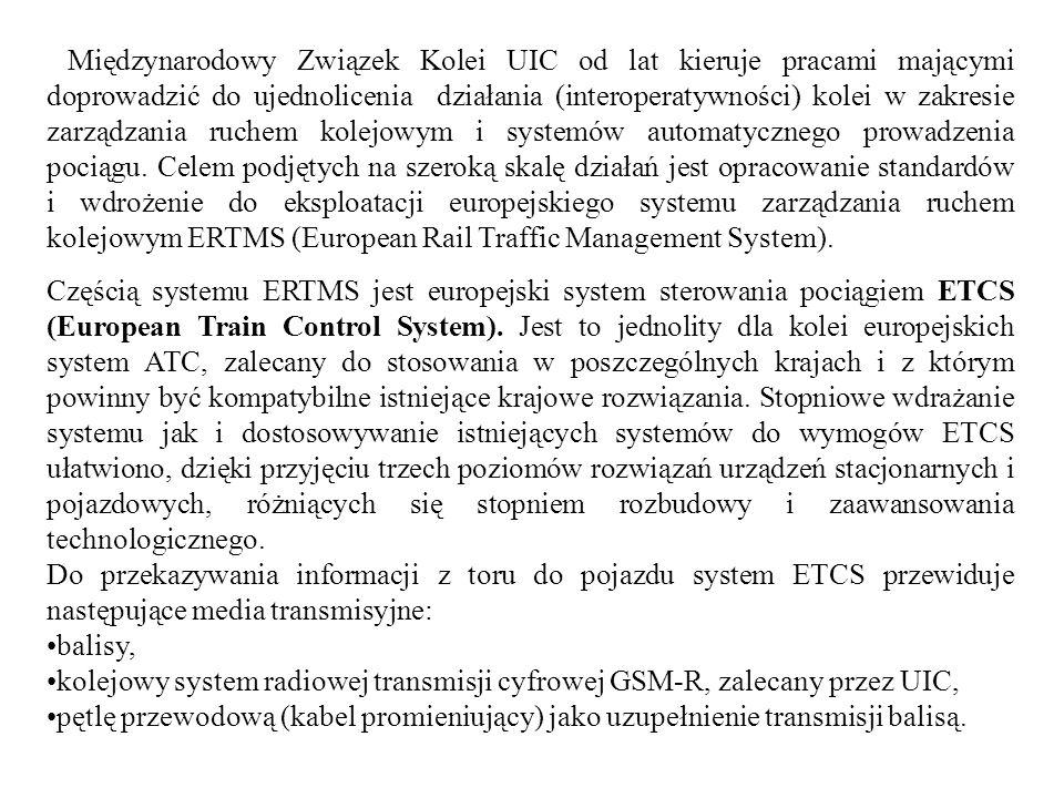 Międzynarodowy Związek Kolei UIC od lat kieruje pracami mającymi doprowadzić do ujednolicenia działania (interoperatywności) kolei w zakresie zarządza
