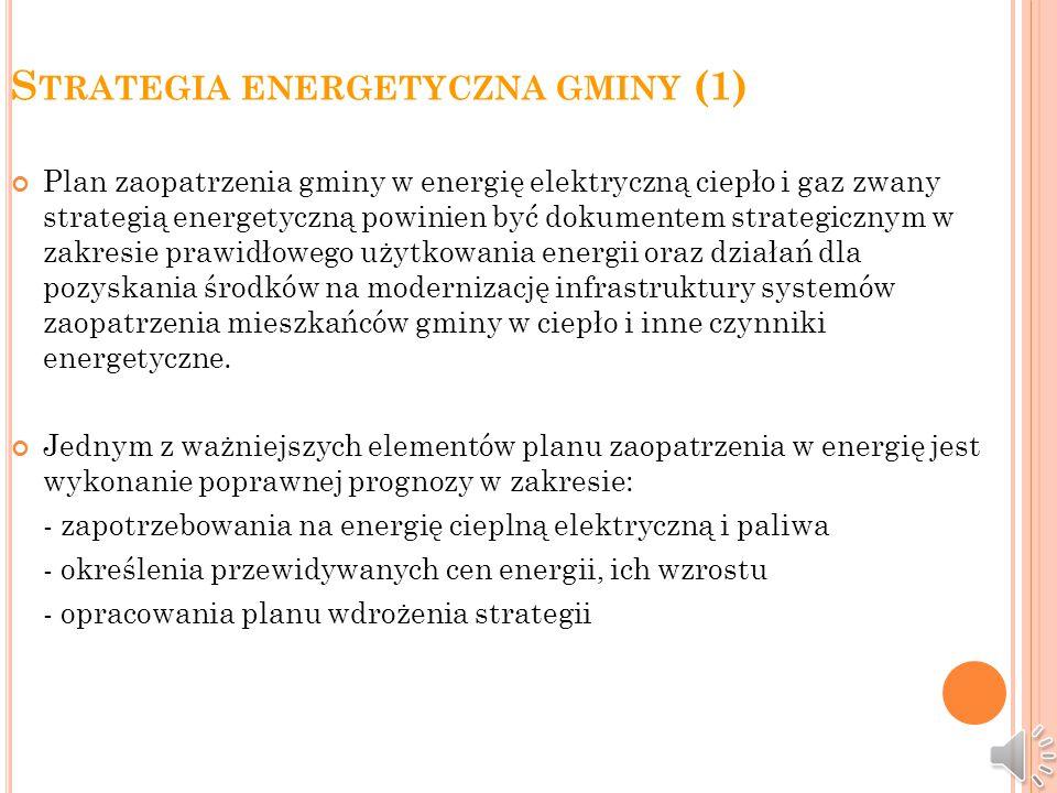 Odnawialne źródła energii w strategii energetycznej gminy