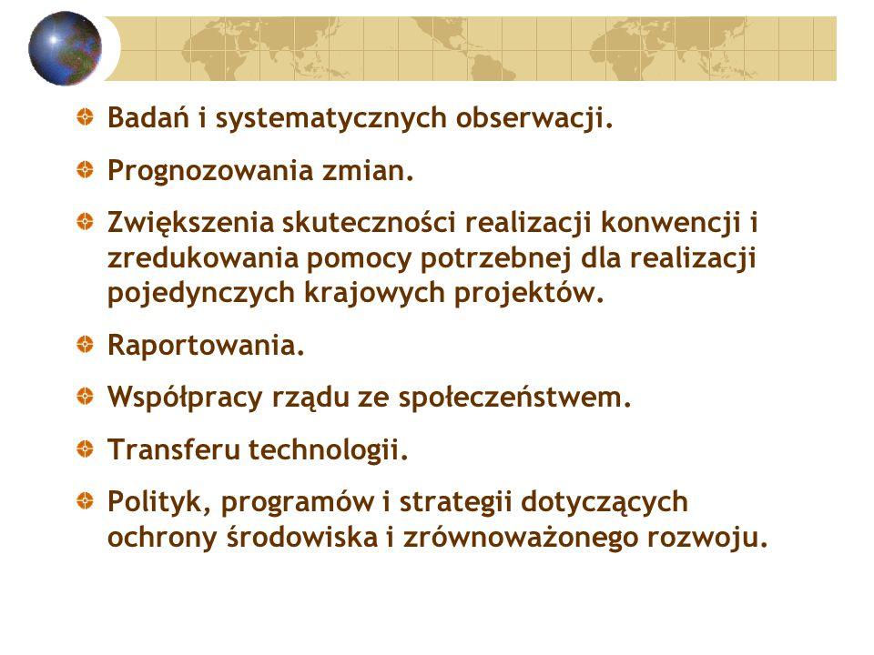 Badań i systematycznych obserwacji. Prognozowania zmian.