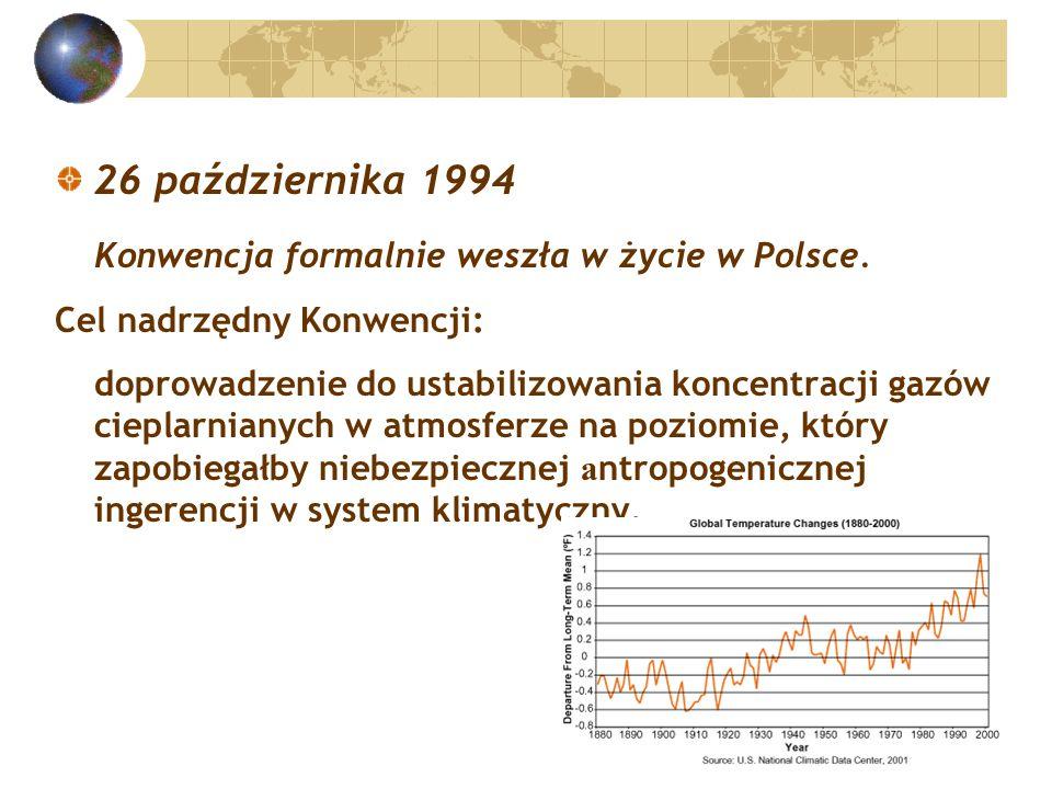 26 października 1994 Konwencja formalnie weszła w życie w Polsce.