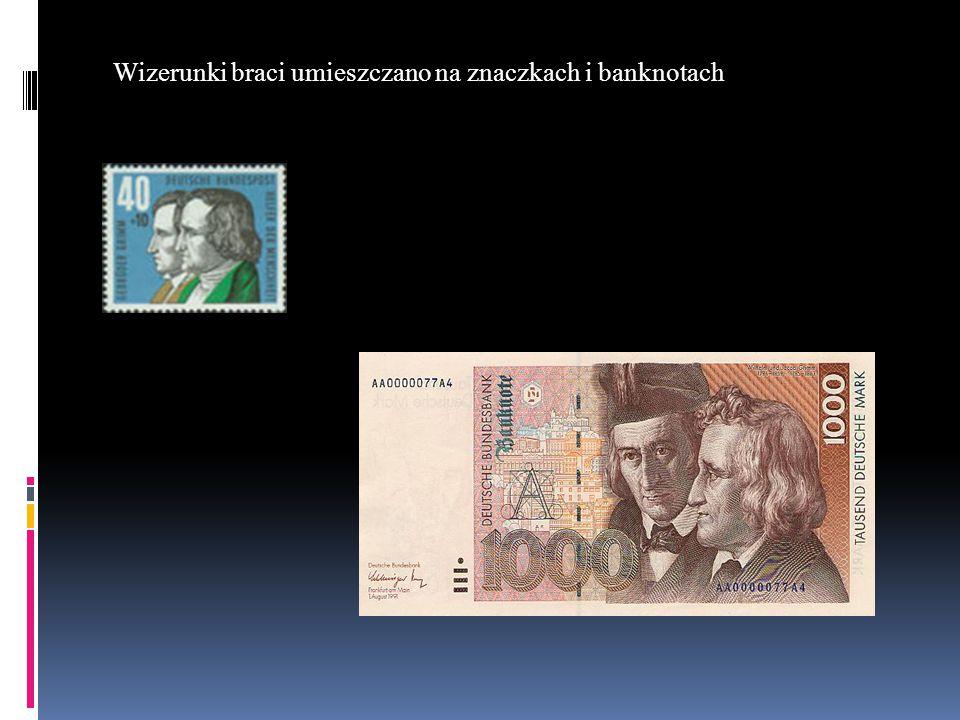 Wizerunki braci umieszczano na znaczkach i banknotach