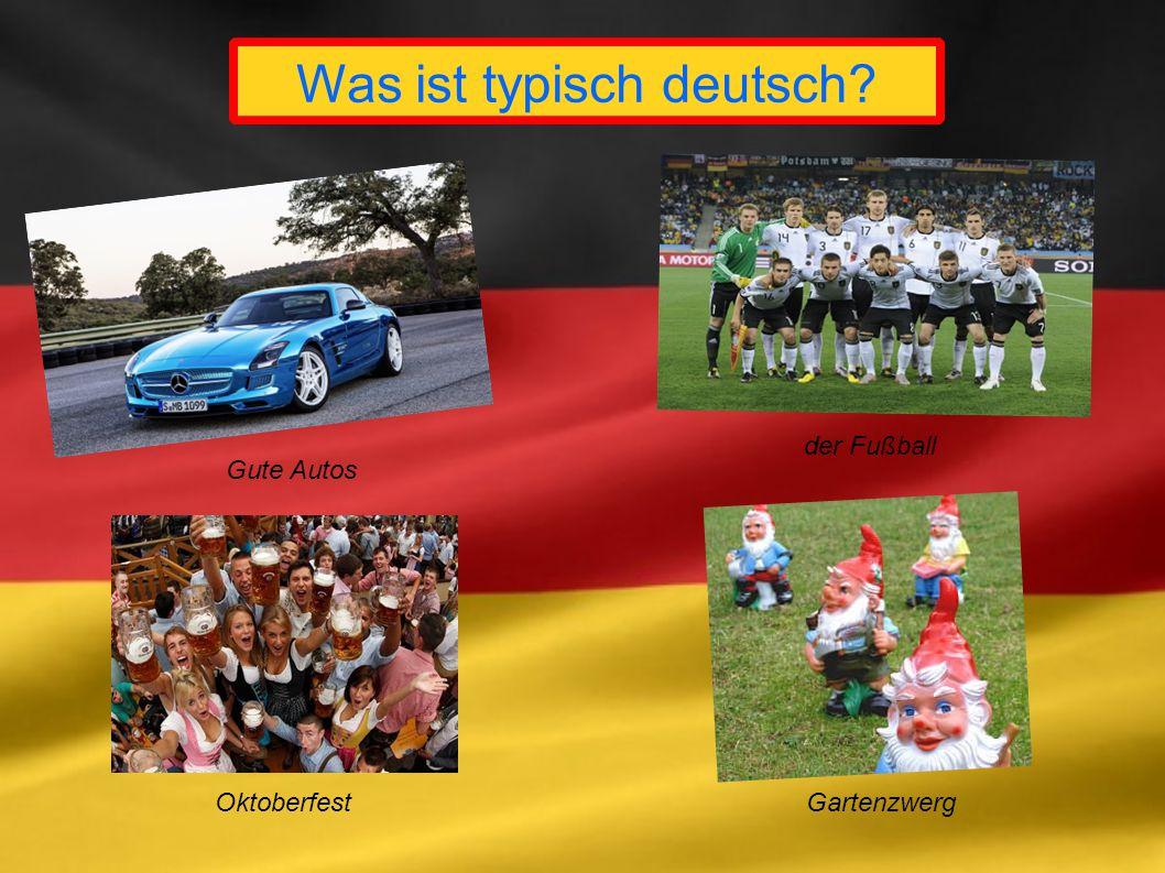 Was ist typisch deutsch? Gute Autos der Fußball OktoberfestGartenzwerg