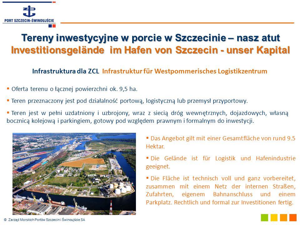  Das Angebot gilt mit einer Gesamtfläche von rund 9.5 Hektar.  Die Gelände ist für Logistik und Hafenindustrie geeignet.  Die Fläche ist technisch