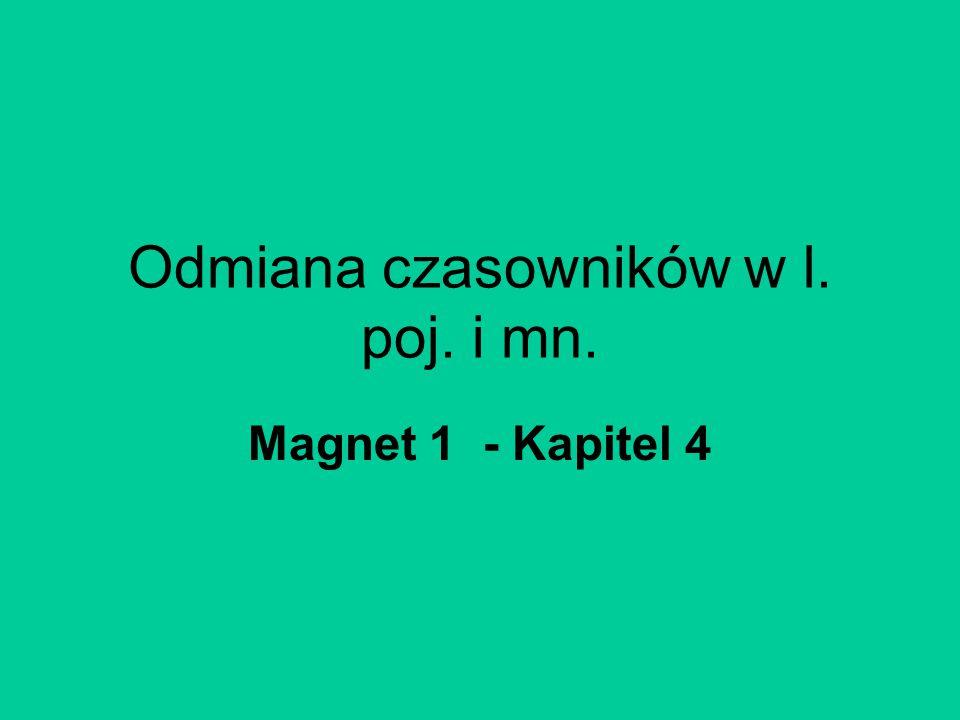 Odmiana czasowników w l. poj. i mn. Magnet 1 - Kapitel 4
