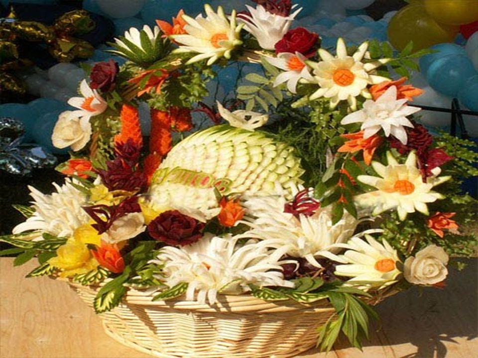 Essbares Blumengesteck Jadalny bukiet