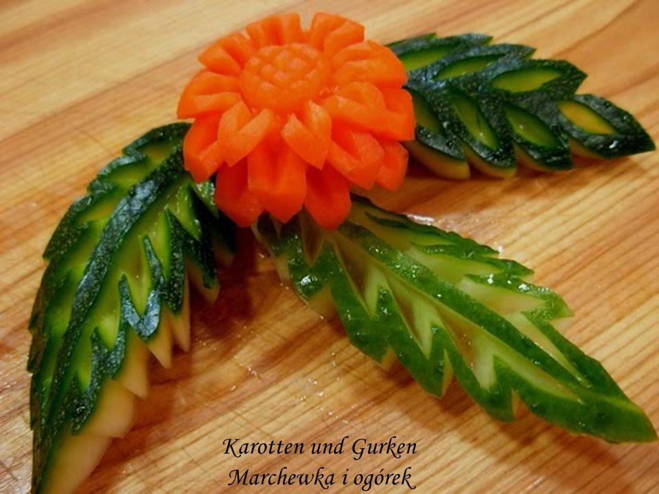 Karotten und Gurken Marchewka i ogórek