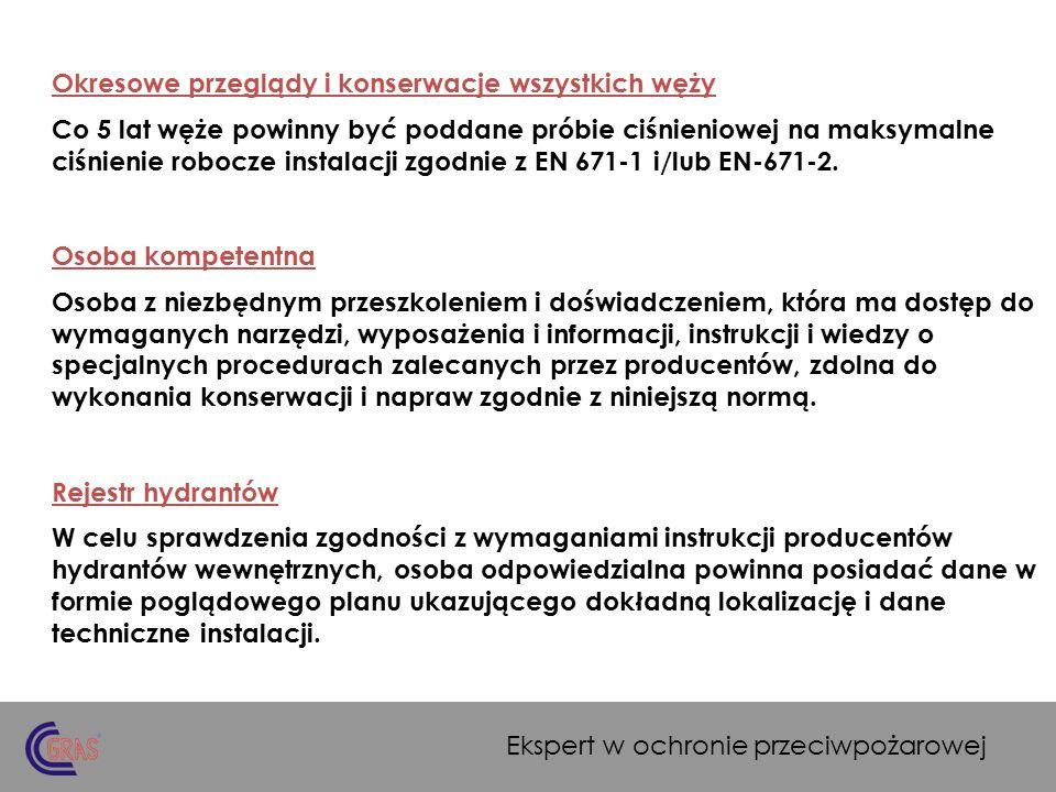 Dokumentowanie przeglądów i konserwacji wg PN-EN 671-3.