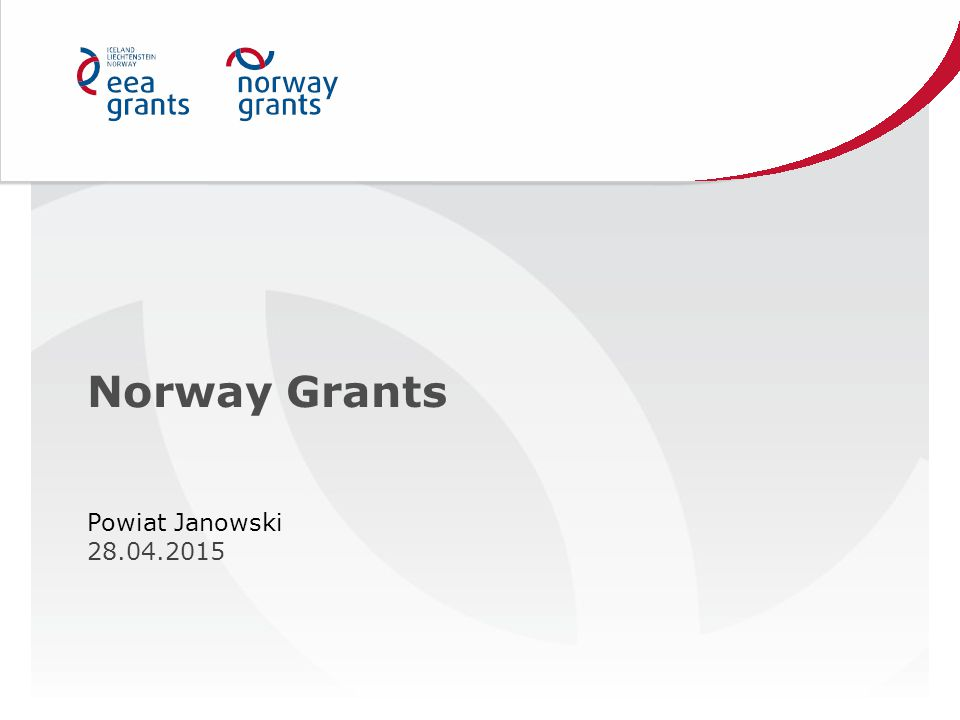 Norway Grants Powiat Janowski 28.04.2015