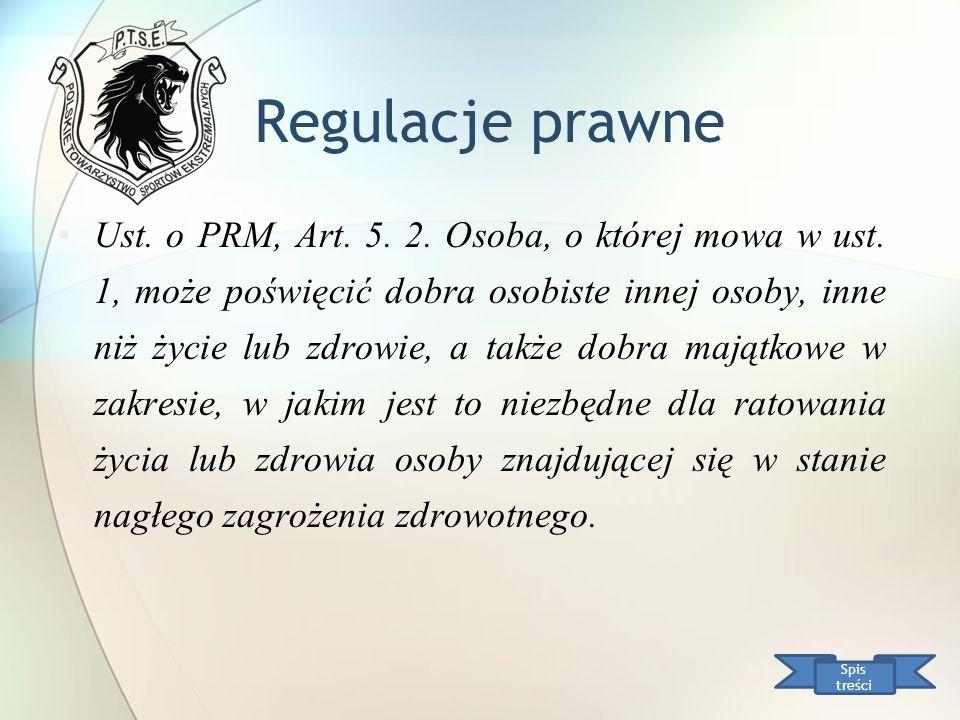 Regulacje prawne Ust. o PRM, Art. 5. 2. Osoba, o której mowa w ust. 1, może poświęcić dobra osobiste innej osoby, inne niż życie lub zdrowie, a także