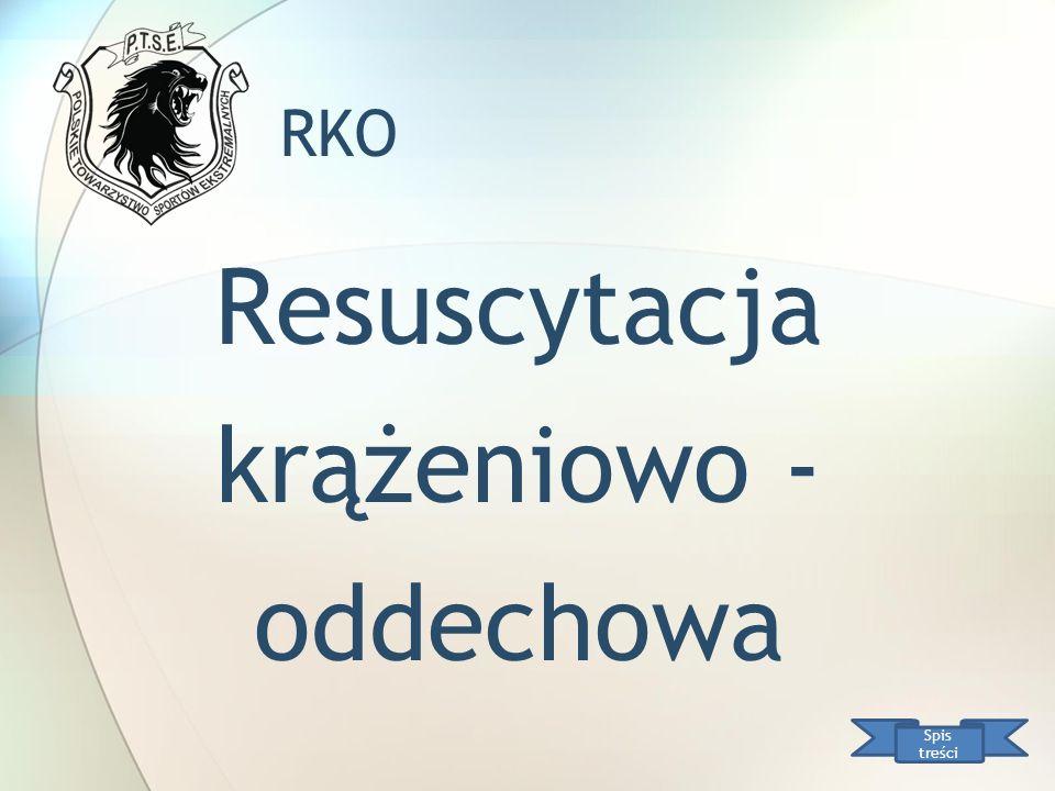 RKO Resuscytacja krążeniowo - oddechowa Spis treści