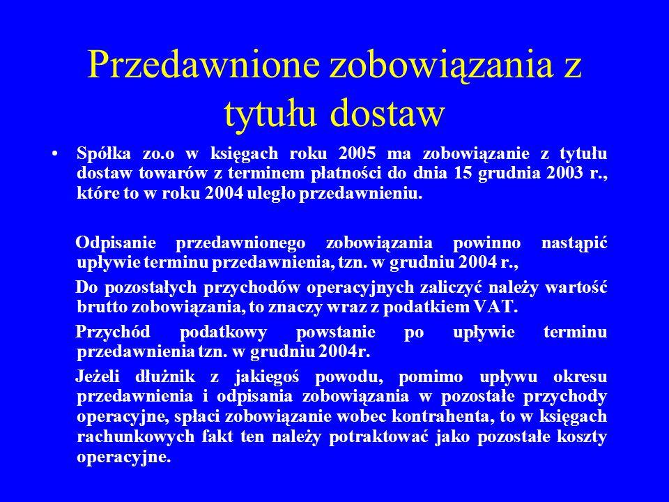 Nabycie środków trwałych z środków otrzymanych z dotacji Spółka kapitałowa otrzymała dotację w wysokości 150.000 zł.