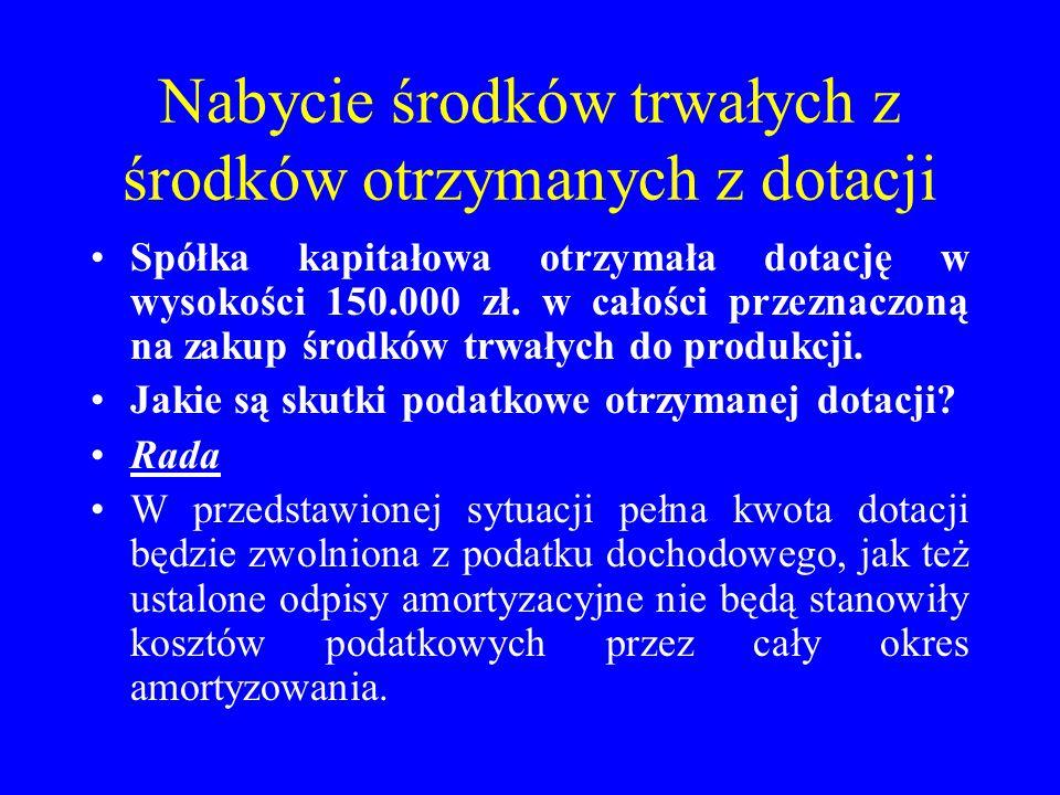 """Spółka zo.o.FAMA na koncie """"Środki trwałe w budowie posiada kwotę w wysokości 25.000 zł."""