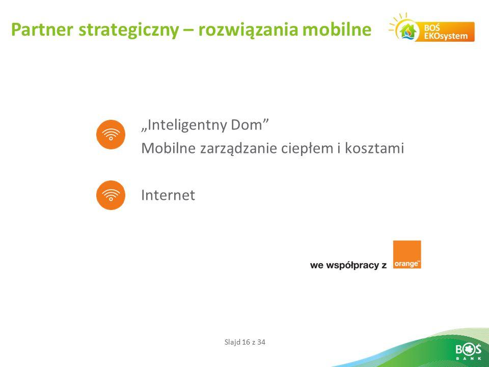 """Slajd 16 z 34 Partner strategiczny – rozwiązania mobilne """"Inteligentny Dom"""" Mobilne zarządzanie ciepłem i kosztami Internet"""