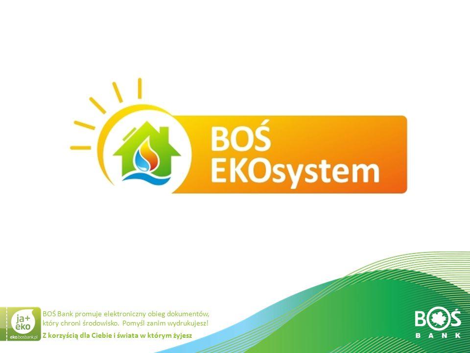 Slajd 13 z 34 BOŚ EKOsystem – porównanie produktów Przeznaczenie Okres kredytowania kredytowania Oprocentowanie,prowizja Dostępnakwota sam pakiet BES na okres spłaty do 15 lat  Budowa domu oraz BES,  Kupno gotowego domu oraz BES,  Zakup samego BES w ramach kredytu hipotecznego z długim okresem kredytowania  Remont/ modernizacja posiadanego domu oraz BES  Zakup samego BES na dłuższy okres kredytowania,  Cel dowolny 15 lat 30 lat35 lat Do 100 % wartości pakietu BES Max 110 tys.