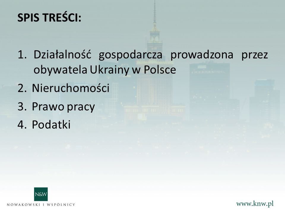 Działalność gospodarcza prowadzona przez obywatela Ukrainy w Polsce