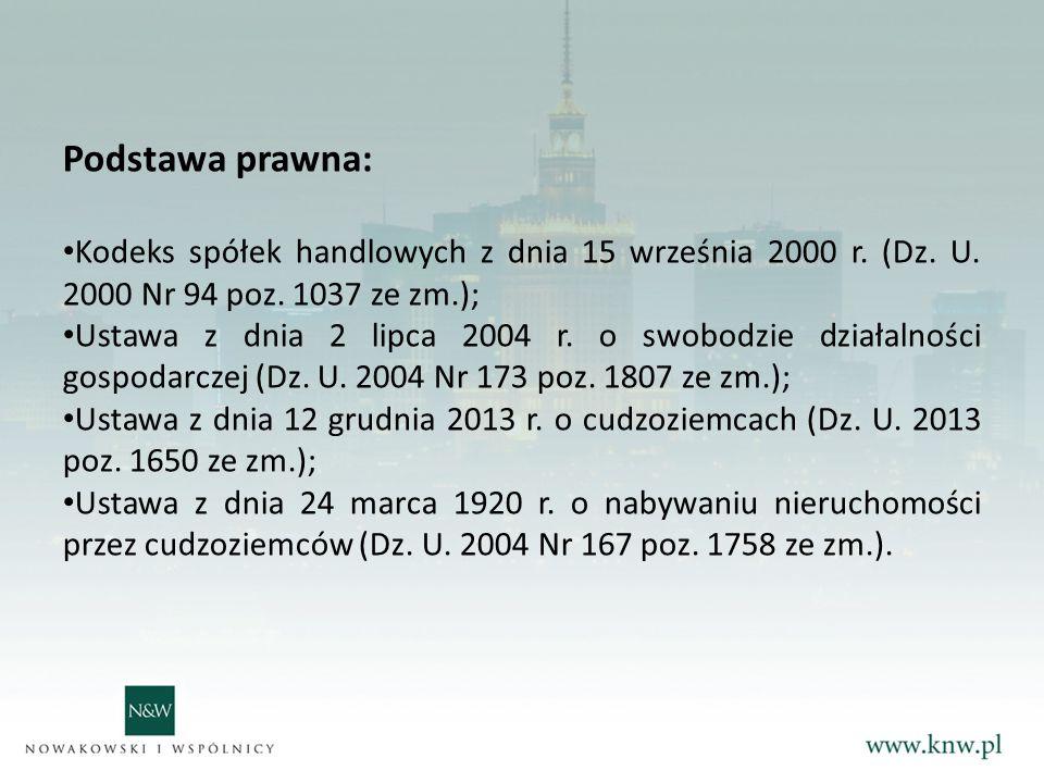 Podstawa prawna: Kodeks spółek handlowych z dnia 15 września 2000 r.
