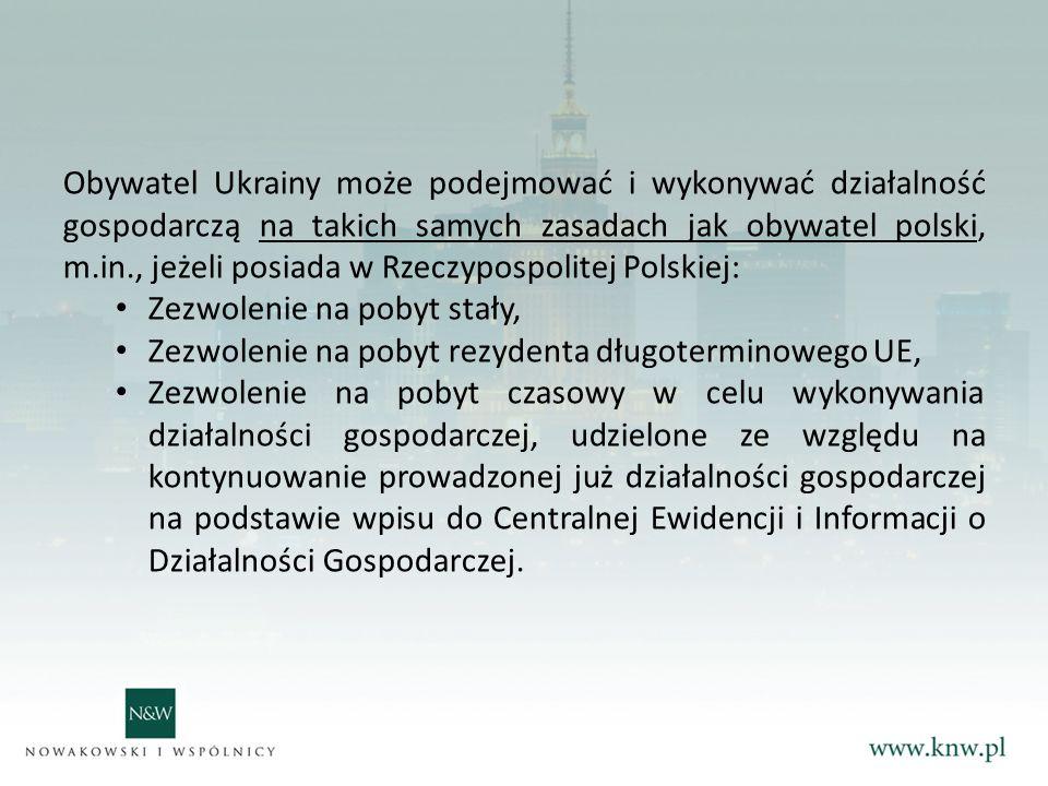 Obywatel Ukrainy jest uprawniony do wykonywania pracy na terytorium Rzeczypospolitej Polskiej bez konieczności uzyskiwania zezwolenia m.in.