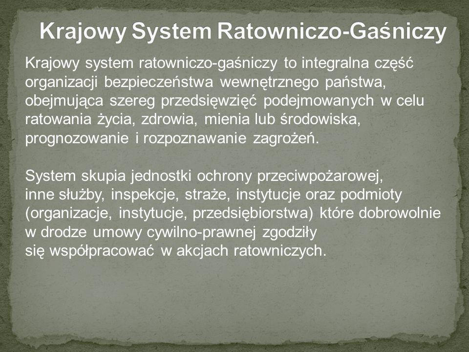 Krajowy system ratowniczo-gaśniczy to integralna część organizacji bezpieczeństwa wewnętrznego państwa, obejmująca szereg przedsięwzięć podejmowanych