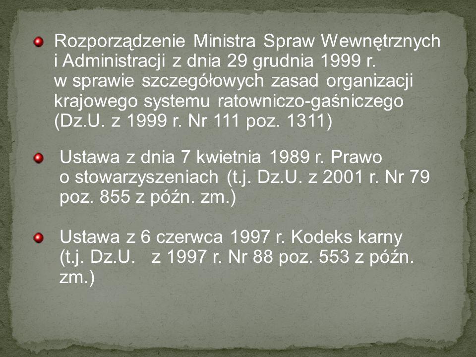 Rozkaz Nr 3/2000 Komendanta Głównego Państwowej Straży Pożarnej z dnia 2 czerwca 2000 r.