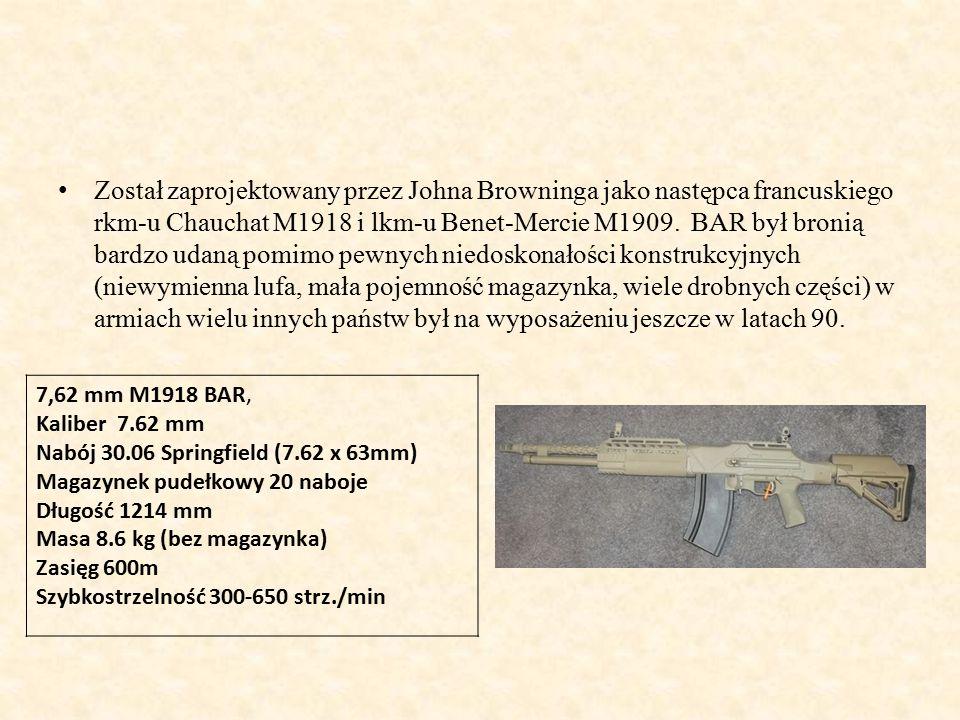 Został zaprojektowany przez Johna Browninga jako następca francuskiego rkm-u Chauchat M1918 i lkm-u Benet-Mercie M1909.