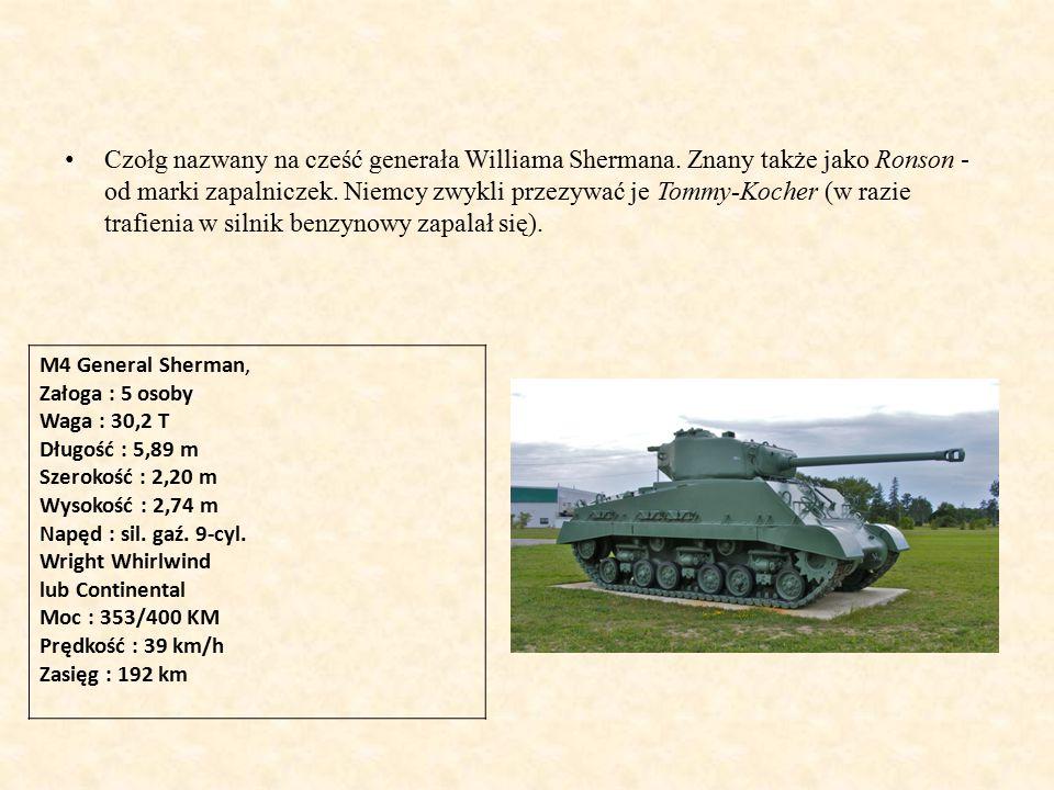 Czołg nazwany na cześć generała Williama Shermana.
