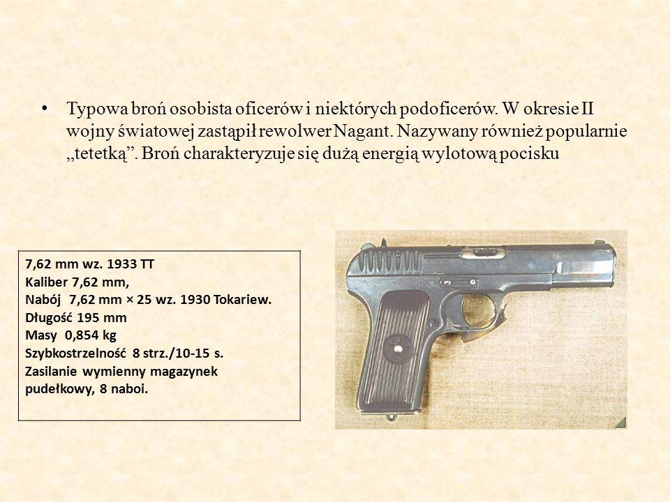 Typowa broń osobista oficerów i niektórych podoficerów.