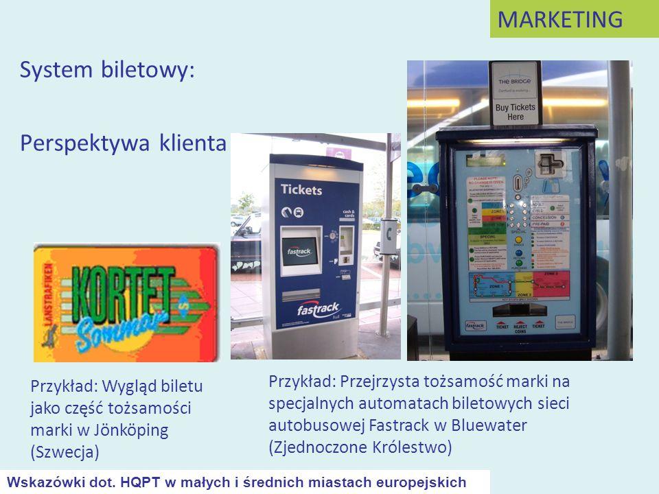 System biletowy: Perspektywa klienta Przykład: Wygląd biletu jako część tożsamości marki w Jönköping (Szwecja) Przykład: Przejrzysta tożsamość marki n