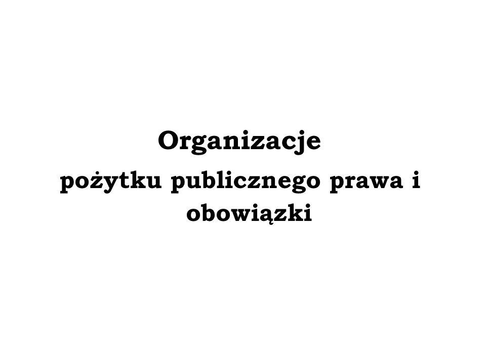 Uprawnienia organizacji pożytku publicznego – 1% podatku Od 1 stycznia 2004 r.