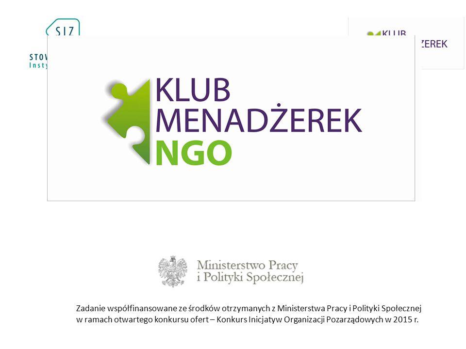 Zadanie współfinansowane ze środków otrzymanych z Ministerstwa Pracy i Polityki Społecznej w ramach otwartego konkursu ofert – Konkurs Inicjatyw Organizacji Pozarządowych w 2015 r.