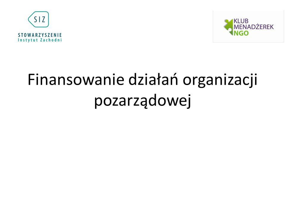 Finansowanie działań organizacji pozarządowej