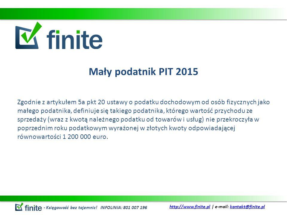 Mały podatnik PIT 2015 – c.d.