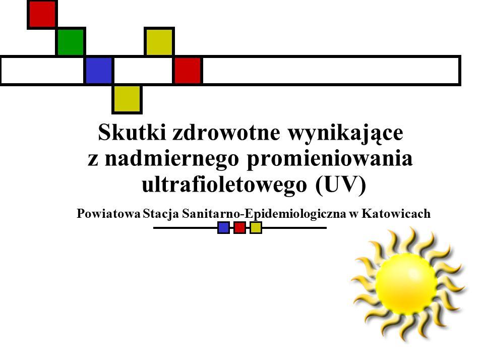 Skutki zdrowotne wynikające z nadmiernego promieniowania ultrafioletowego (UV) Powiatowa Stacja Sanitarno-Epidemiologiczna w Katowicach