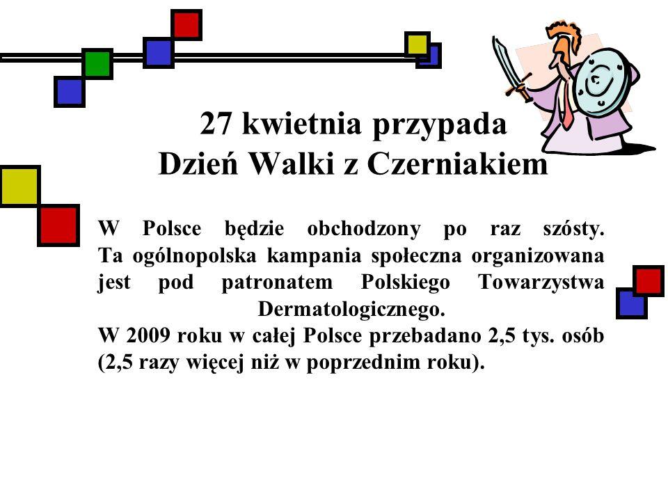 27 kwietnia przypada Dzień Walki z Czerniakiem W Polsce będzie obchodzony po raz szósty. Ta ogólnopolska kampania społeczna organizowana jest pod patr
