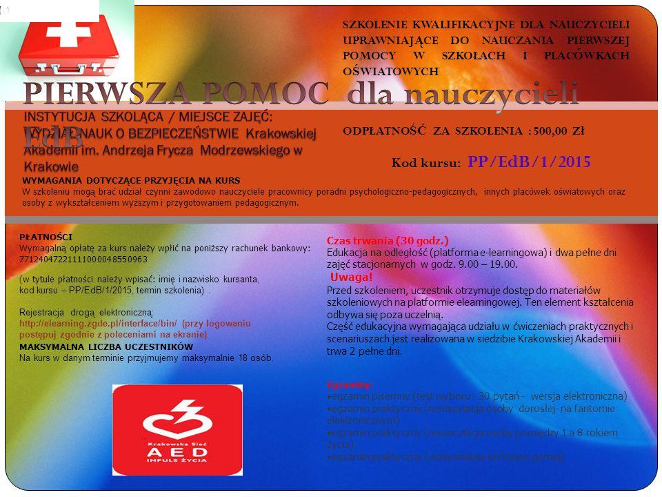Od sierpnia 2010 roku Wydział Nauk o Bezpieczeństwie Krakowskiej Akademii im.