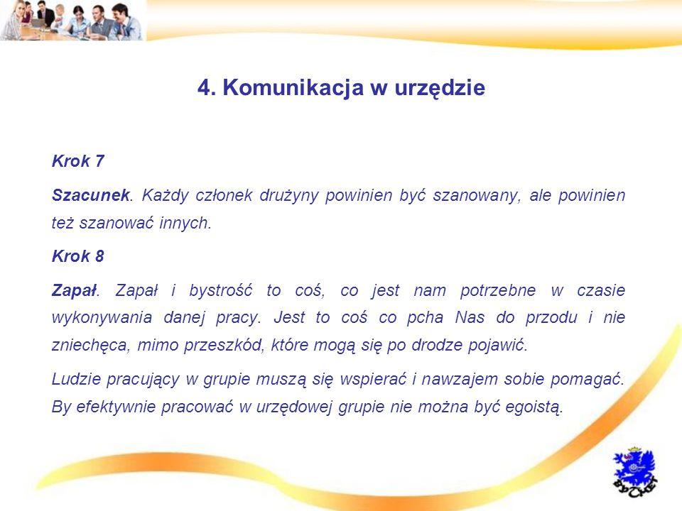 4.Komunikacja w urzędzie Krok 7 Szacunek.