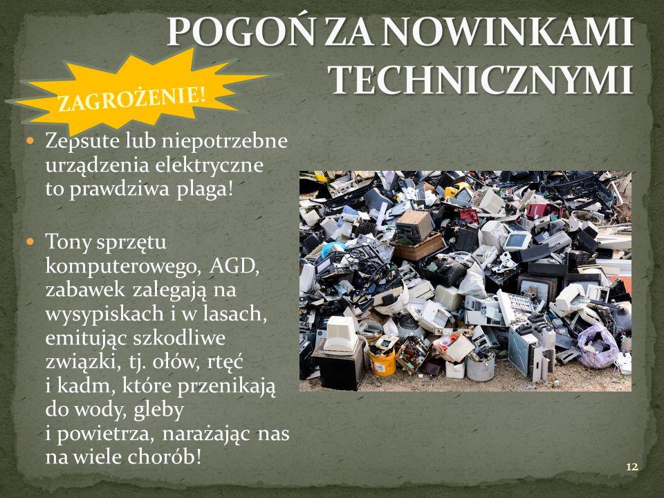 Zepsute lub niepotrzebne urządzenia elektryczne to prawdziwa plaga! Tony sprzętu komputerowego, AGD, zabawek zalegają na wysypiskach i w lasach, emitu