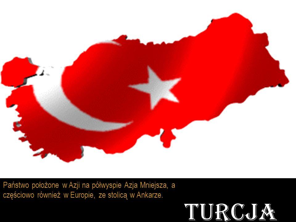 Państwo położone w Azji na półwyspie Azja Mniejsza, a częściowo również w Europie, ze stolicą w Ankarze. TURCJA